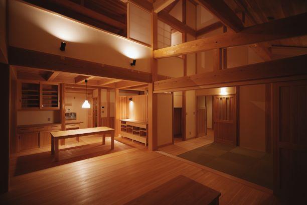 日本の木の家 完成
